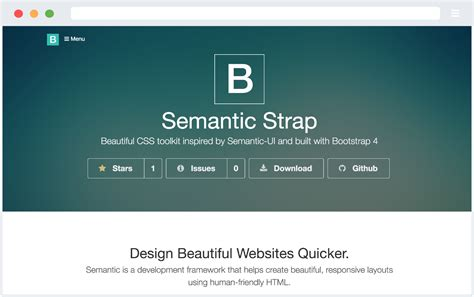 semantic ui layout exles github websemantics themeblr a powerful css framework