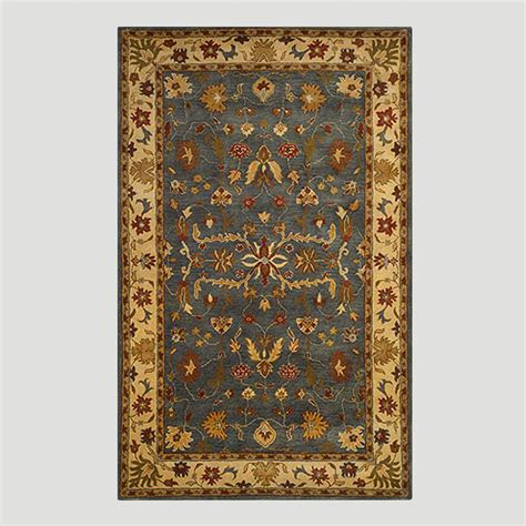 blue oushak rug gray oushak wool rug world market