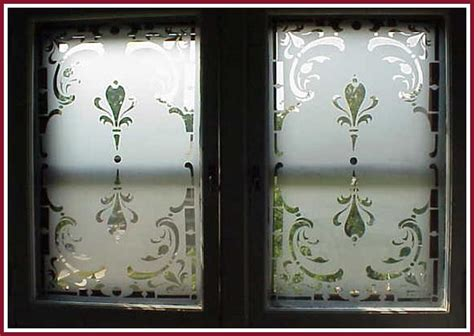 etched double window done using egress etch glass etching