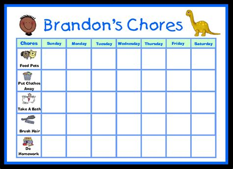 make your own chart childrens printable pictures create your own chore chart k