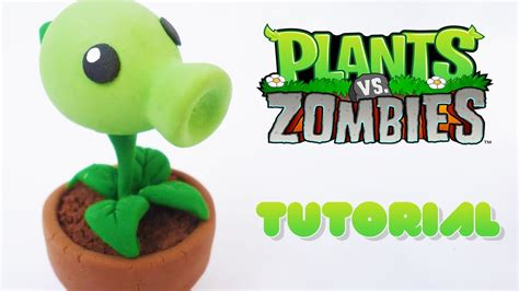 tutorial ngecheat plant vs zombie peashooter pvz polymer clay tutorial lanzaguisantes pvz