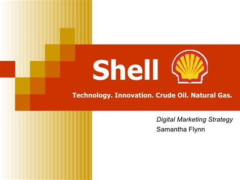 Shell Digital Marketing Strategy Royal Shell Ppt