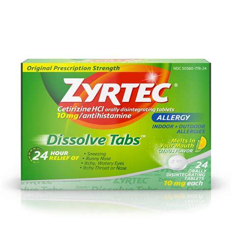 Obat Cetirizine Hcl 10 zyrtec 24 hour allergy dissolve tablets 10 mg citrus 24 tablets rite aid