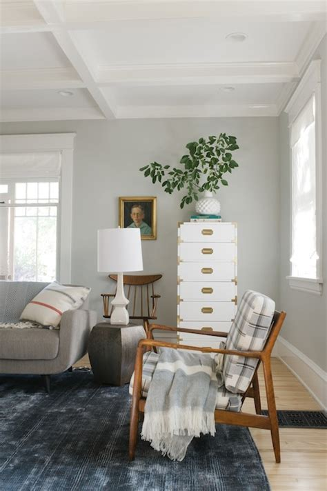 gray paint colors vintage living room sherwin williams aloof gray emily henderson
