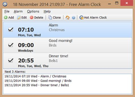 alarm clock  windows desktop