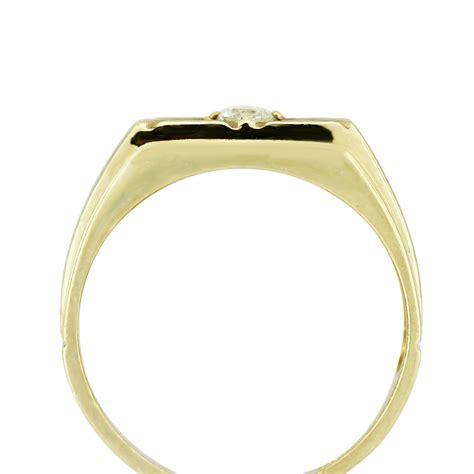 14k yellow gold square mens ring boca raton