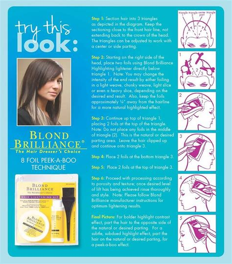 blonde brilliance highlighting instructions 13 best foiling techniques images on pinterest hair