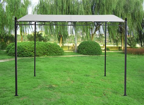 Wand Pavillon Metall by 3x3m Metal Wall Gazebo Canopy Pergola Awning Shade Marquee