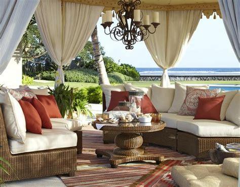 outdoor patio tenting mediterranean deck patio