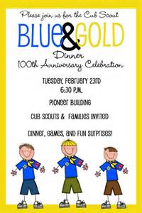 cub scouts blue and gold banquet invitation