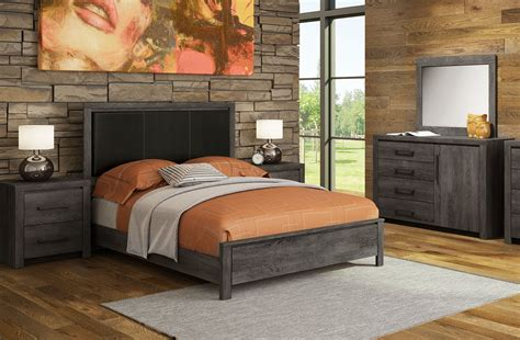 driftwood bedroom furniture driftwood 5 piece queen bedroom set rustic brown leon s
