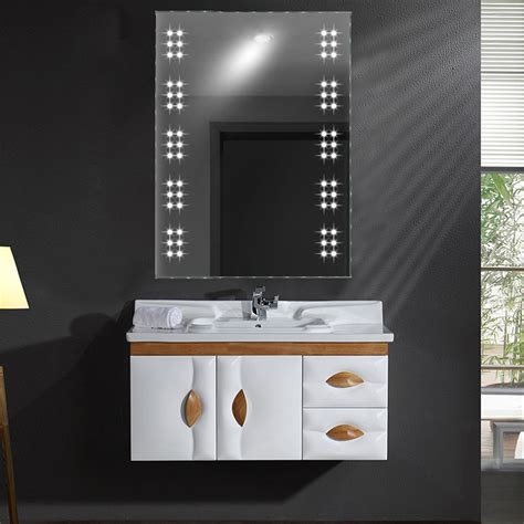 30 excellent bathroom mirrors with lights and demister 60 leds ir touch sensor illuminated wall mounted vanity