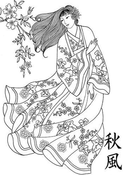Japan Geisha Coloring Pages Sketch Coloring Page Geisha Coloring Pages