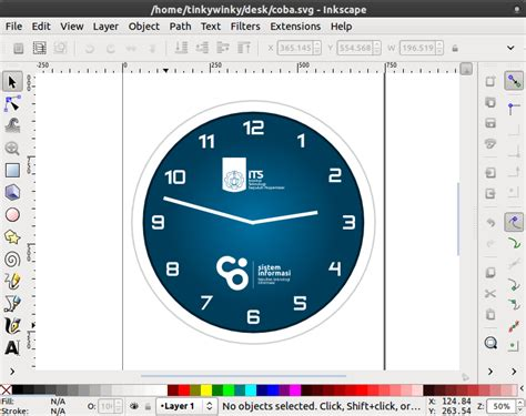 membuat jam dinding di photoshop tutorial desain jam dinding inkscape damaru studio