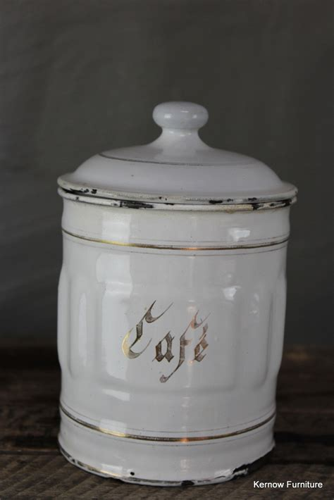 vintage french enamel kitchen canisters caddies tea coffee red vintage french white enamel cafe coffee storage kitchen