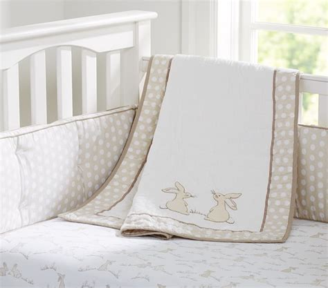 Rabbit Crib Set by Nursery Bedding Pottery Barn
