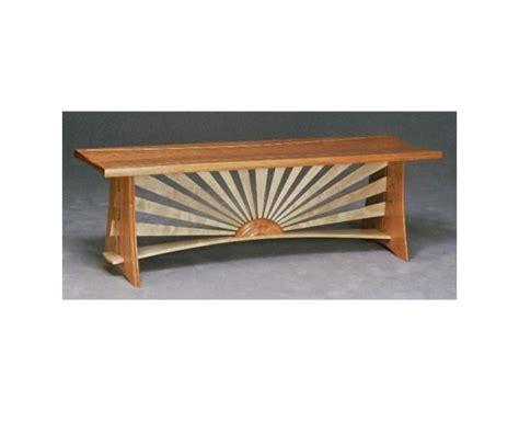 Custom Made Sunburst Bench By Paulus Fine Furniture Sunburst Outdoor Furniture