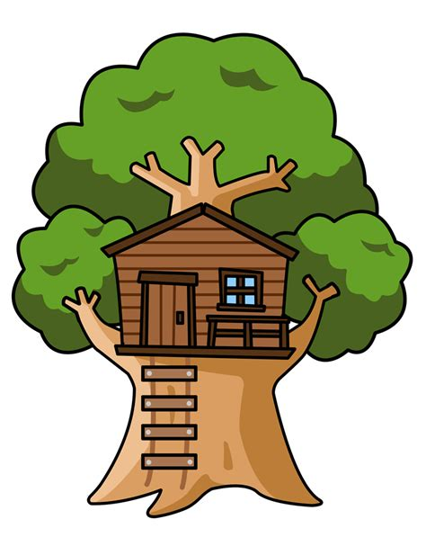 Treehouse Signs - free cartoon tree house clip art