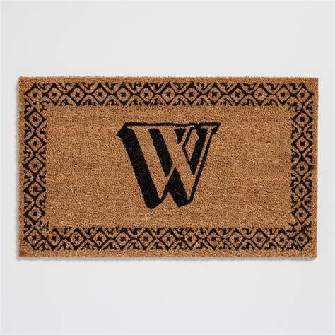 Initial Doormats - w monogram coir doormat world market