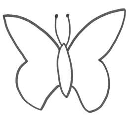 butterfly template monarch butterfly outline cliparts co