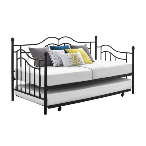 how to build a daybed with trundle essential home scroll daybed with trundle shop your way