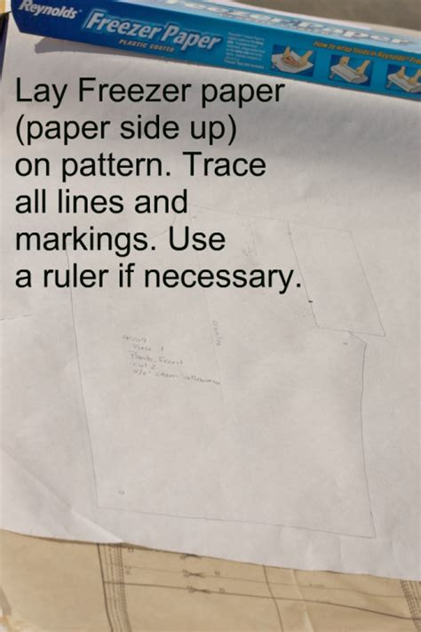 pattern tracing freezer paper i ve never cut my patterns always used thin interfacing