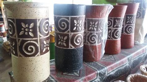 jual pot vas terakota etnik panjang tembikar tanah liat