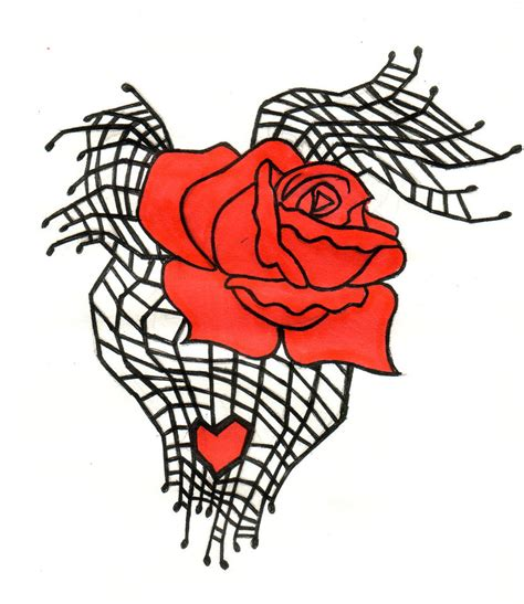 spiderweb rose and heart tattoo clipart best clipart best