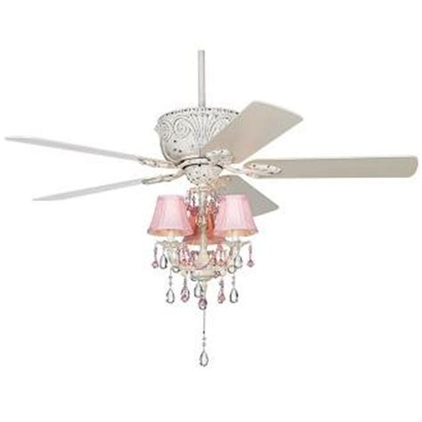 pink chandelier ceiling fan excellent light and air