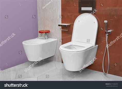 bidet in bathroom toilet bidet modern bathroom stock photo 471060293