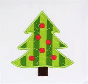 christmas tree with dots applique trendystitchdesigns