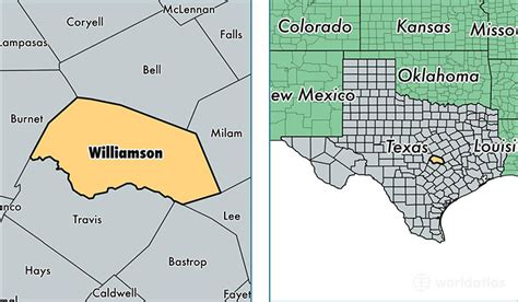 williamson county map texas williamson county map my