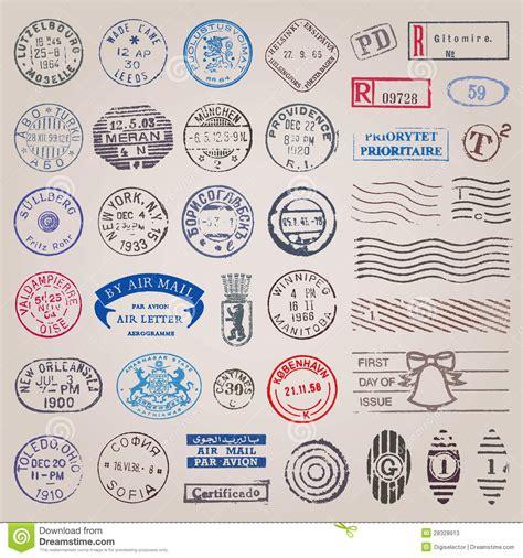 imagenes vintage sellos sellos del vintage del vector fotos de archivo imagen