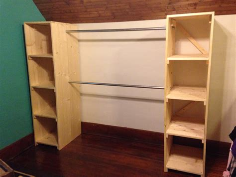 Free Standing Wood Closet by Free Standing Closet Is Finished It S For Our