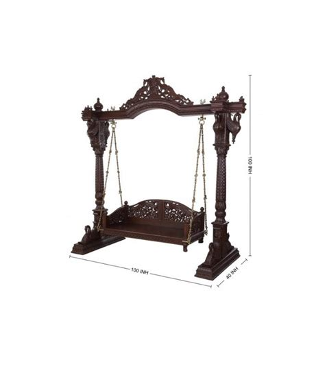 jhula swing buy hand carved jhoola for home from teak wood online at
