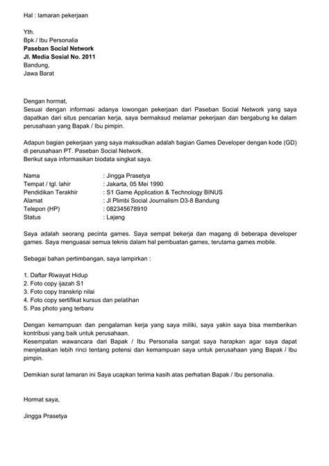 membuat cv untuk melamar kerja cara membuat resume contoh resume surat lamaran kerja 10