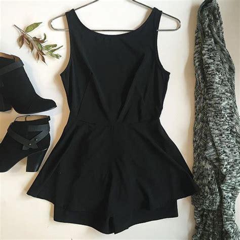 Romper Dress Cardigan by Romper Divergence Clothing Black Romper Black
