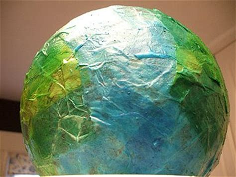 How To Make A Paper Mache Globe - our day our journey earth day paper mache globe