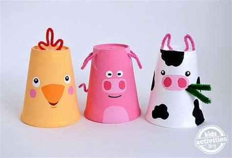 creazioni con bicchieri di plastica lavoretto con bicchieri di plastica gli animali da