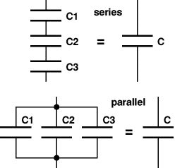 capacitor in parallel vs series electronics club capacitance uses charge discharge time constant energy stored series