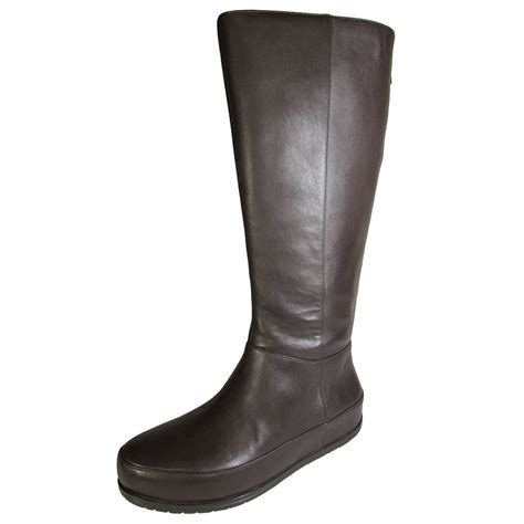 fitflop womens dueboot twisted zip knee high boot shoe ebay