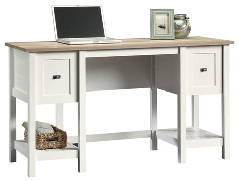 Cottage Style Computer Desk Cottage Road Desk Soft White Style Desks And Hutches By Sauder