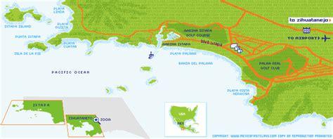 map of mexico showing ixtapa ixtapa map