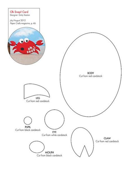 crab claw template free crab pattern template crabs