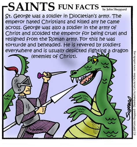 st facts for st george saints catholic