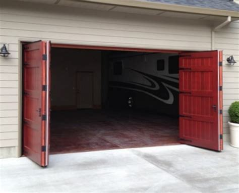 Residential Bi Fold Garage Doors Bi Fold Garage Door Non Warping Patented Honeycomb Panels And Door Cores