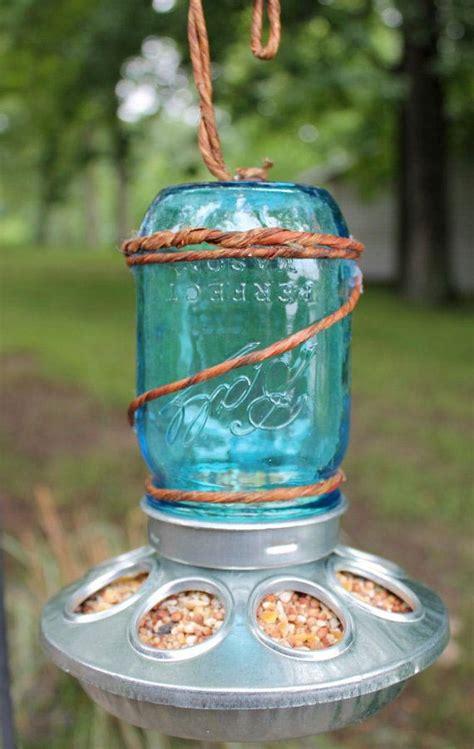How To Make Jar Bird Feeder jar bird feeder diy birdcage design ideas