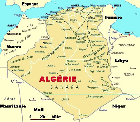 algeria map with cities www mappi net maps of countries algeria