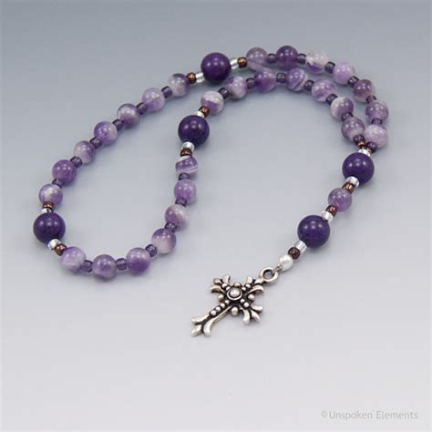 anglican rosary anglican prayer rosary purple amethyst by