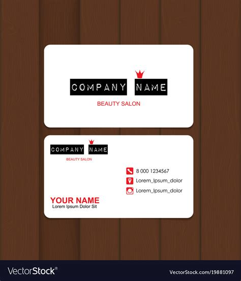 Salon Business Cards Vector Free